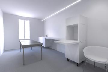 Cabine blanche, gaëlle le boulc'h, designer, architecte, intérieur, décorateur