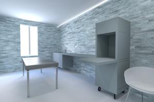 Cabine pierre, gaëlle le boulc'h, designer, architecte, intérieur, décorateur